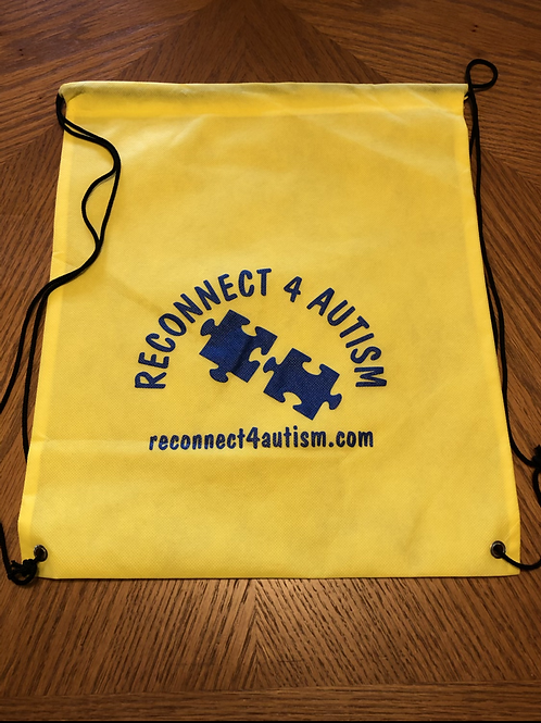 Reconnect 4 Autism Yellow Drawstring Bag