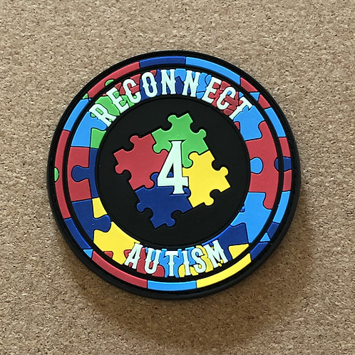 Reconnect 4 Autism Black Glow Patch