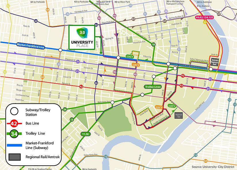 University City Transportation Map