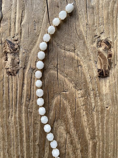 Detachable Halter Top Strap - Semi-Precious White Moonstone Gemstones