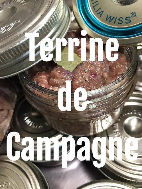 Conserve de Terrine de campagne maison (200 grammes en bocaux)