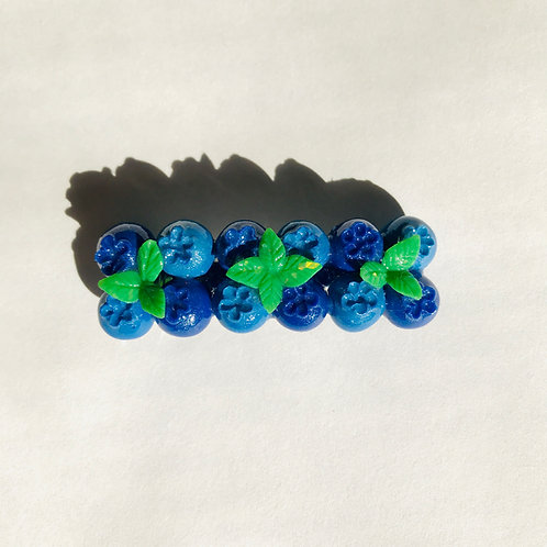 Blueberry Barrette  (Made to Order)