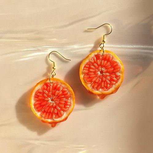 Blood Orange Earrings [Made-to-Order]