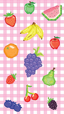 Pixel-Big-Fruits-Picnic-Pattern-Cellphon