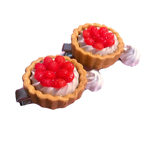 Strawberry Tart Hair Clip (Made to Order)