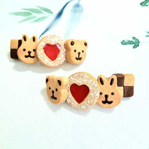 Biscuit Barrette (Made to Order)
