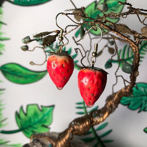 Simple Strawberry Earrings