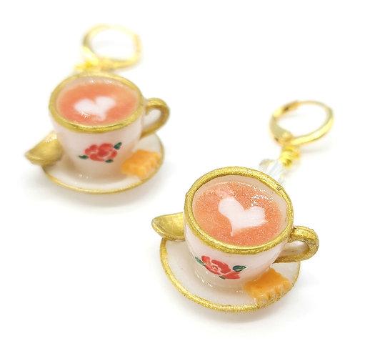 Latte Earring Pair