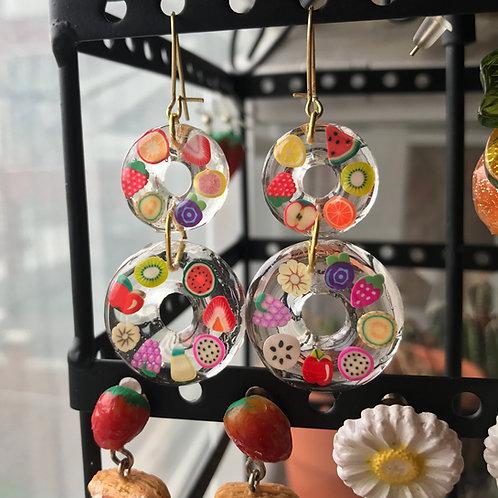 Fruit Loop Earrings (Made to Order)