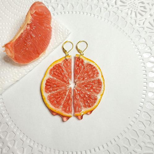Grapefruit Earrings [Made-to-Order]