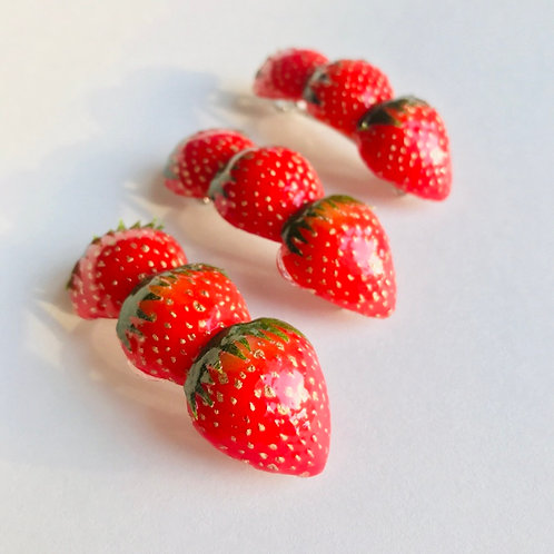 Strawberry Barrette (Made to Order)