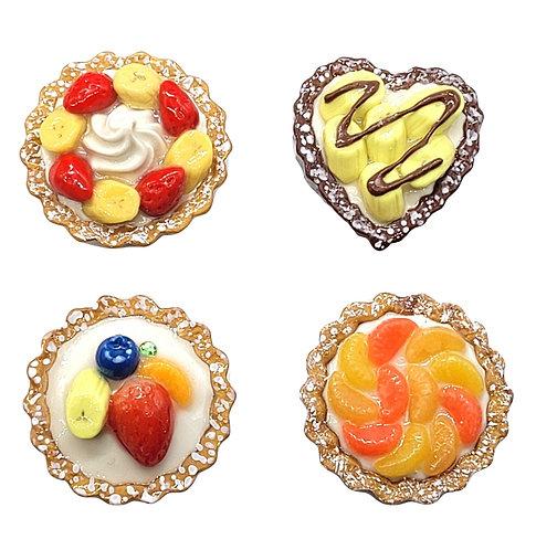 Magnet or Pin Fruit Tart (Made to Order)
