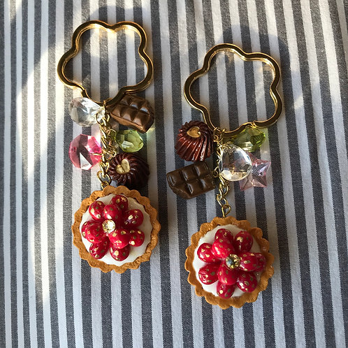 Strawberry Tart Keychain