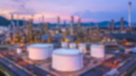 Oil refinery plant from industry zone, A