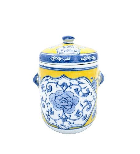 Blue Blooms   Vintage Vessel Candle