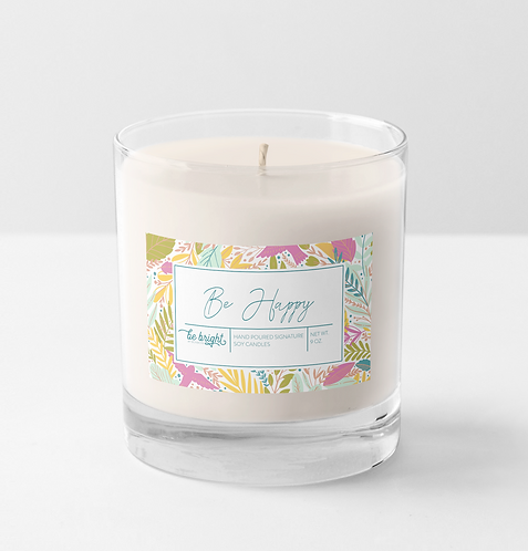 Be Happy | 9 oz Signature Candle