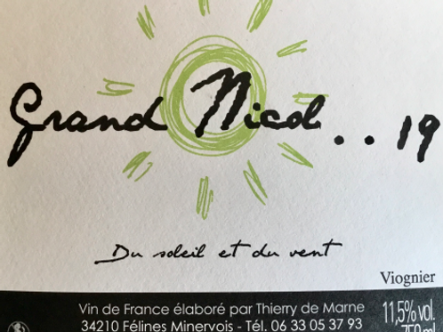 Thierry De Marne (Domaine de Ventajou) - Grand Nicol 2019