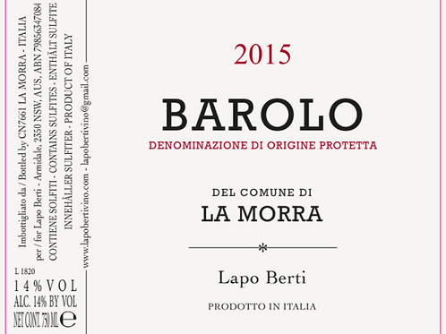Lapo Berti - Barolo 2015