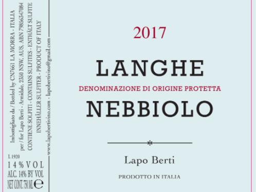 Lapo Berti - Langhe Nebbiolo 2017