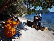海洋公园海滩散步取景拍照, 大家都成专业模特