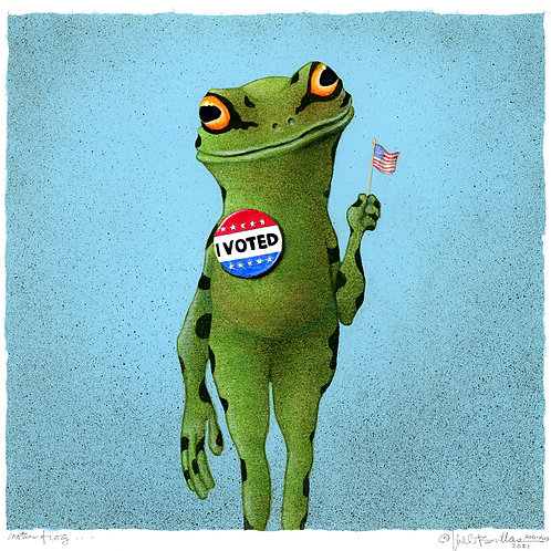 voter frog...