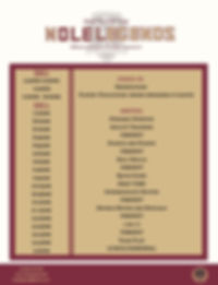 Nole Legends Camp Schedule