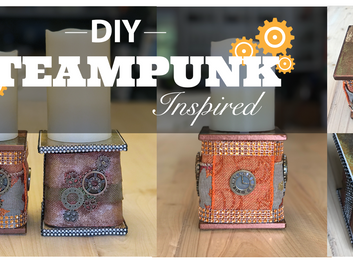 Easy Steampunk Inspired Candle Holder