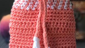Easy Crochet Drawstring Pouch