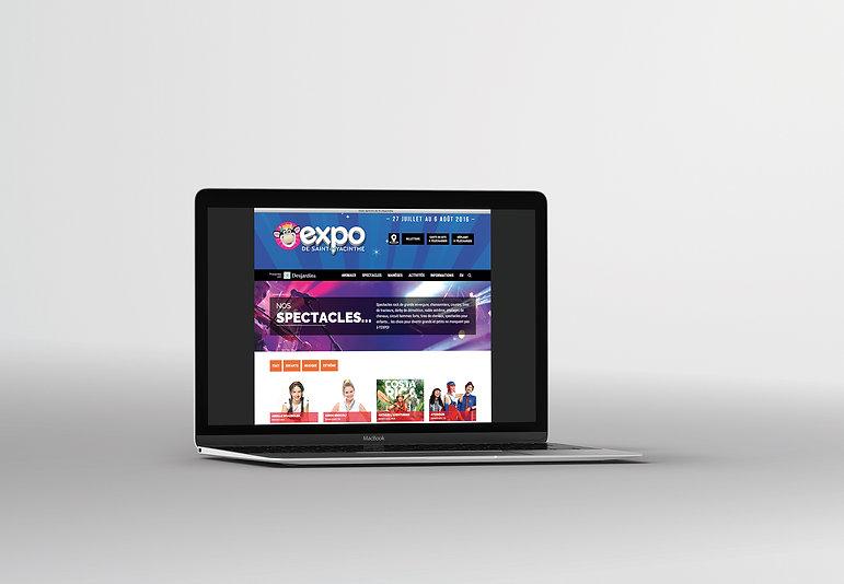 Expo agricole Saint-Hyacinthe design web