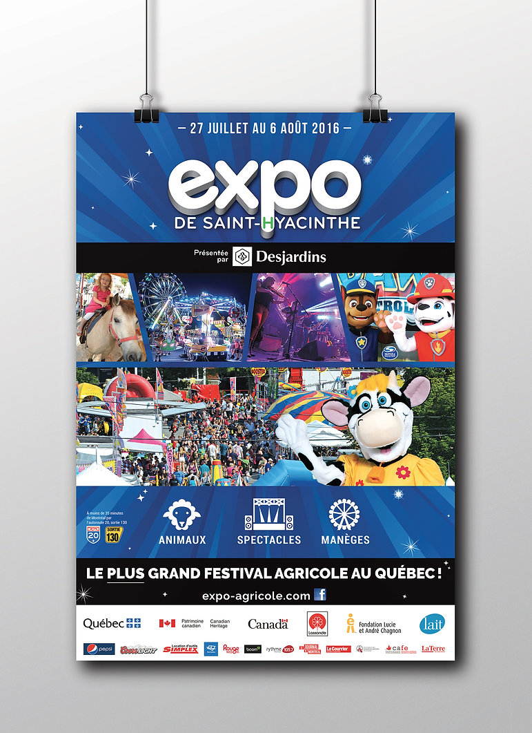 Expo agricole Saint-Hyacinthe affiche
