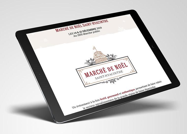 Marche de noel Saint-hyacinthe design web