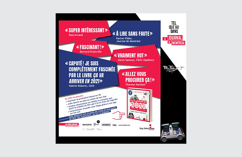 guy saint-jean editeur annuel journal de montréal novembre 2020