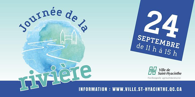 ville de saint-hyacinthe affiche journee rivière