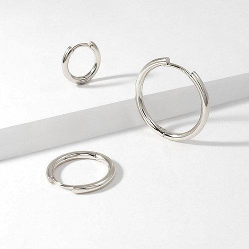 Classic Hoops | Silver | Earrings