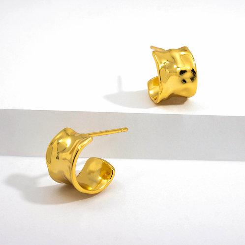 Ripples Studs | Gold | Earrings