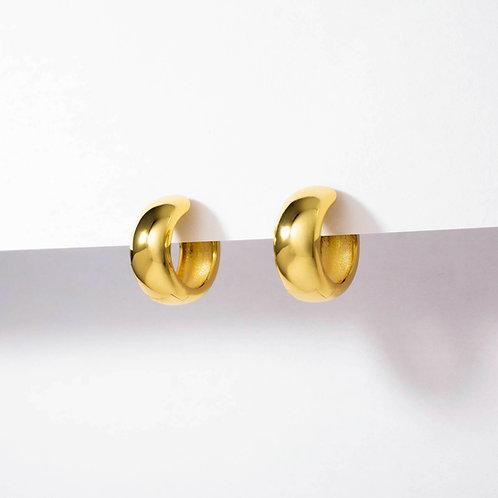 Bold Small Hoops | Gold | Earrings