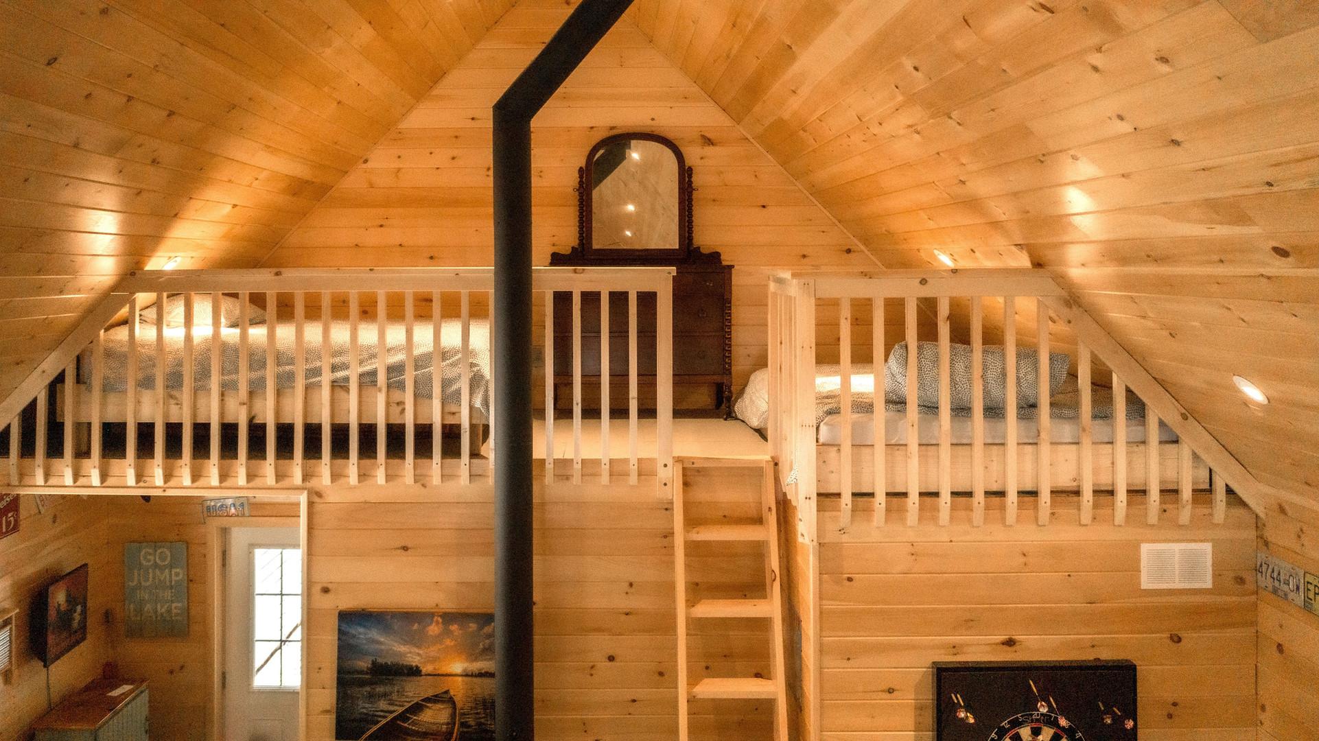 Muskoka cottage sleeping loft
