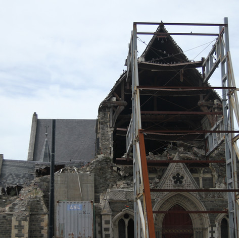 Christchurch Cathedral, South Island, following 2011 earthquake