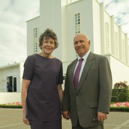 Colleen and Sid Going, former New Zealand Temple President