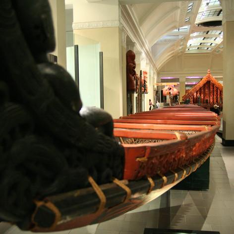 Maori war canoe, Auckland Museum