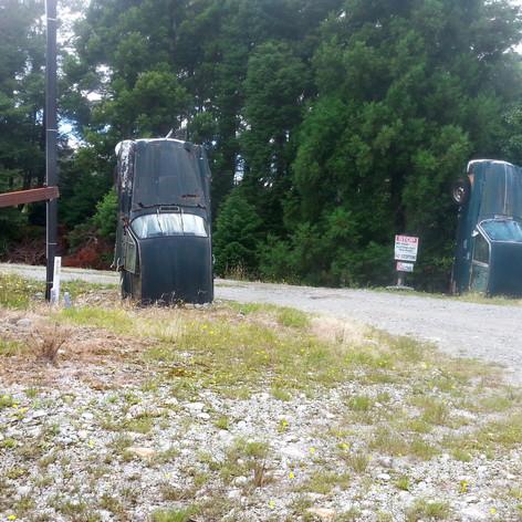 Joe Gillman property, exotic automobile collector, South Island