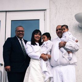 Hori Solomon and Pearl and Dwayne Solomon family