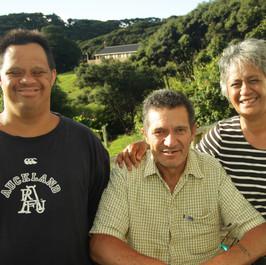 Jeremiah, Lewis, and Elaine Ngawaka