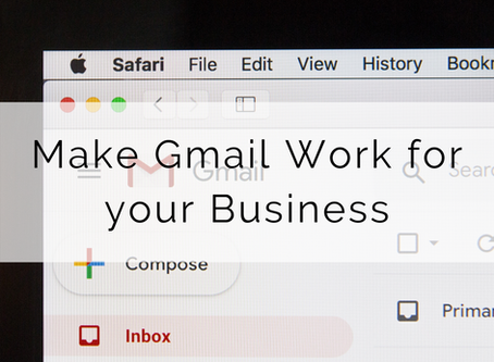 How to make your Gmail email address work for your business