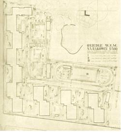 przedwojenny plan zagospodarowania osiedla Rakowiec