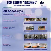 """sale do wynajęcia w Domu Kultury """"Rakowiec"""" na Wiślilckiej 8"""