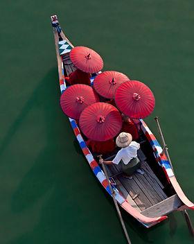 Monks on a Canoe