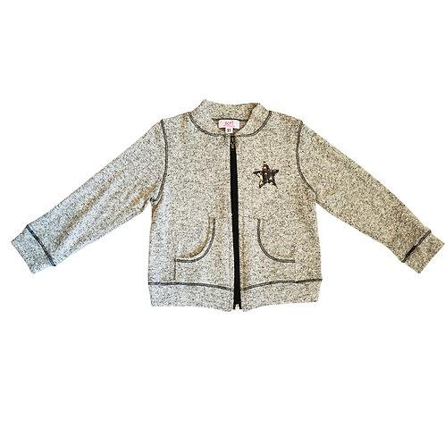 2 Tone Zip hooded Jacket