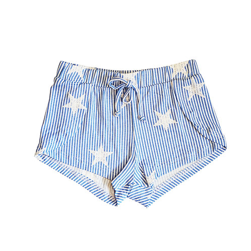 Star and stripes wrap short