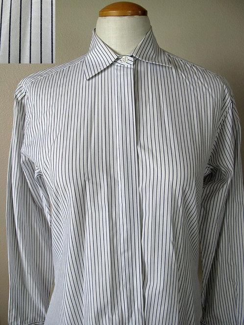 Frierson White/Blue-Blk Stripe Shirt - Ladies 10